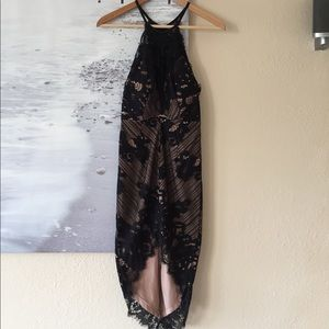 Women's High Low Black Lace Dress Size XS